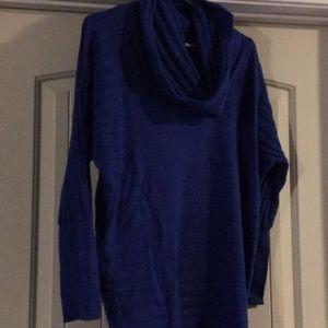 BNWT soft blue cowlneck sweater size S